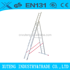 Industry used aluminum combination ladder 12 meter