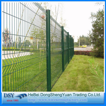 Anti-climb Pvc Coated Galvanized 3d Curved Welded Wire Mesh Fence ...
