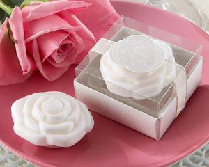 Wedding Door Gifts Rose Shaped Scented Soap