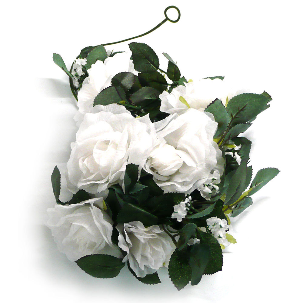 Buy 6ft elegant romantic silk artificial fake foam rose flowers buy 6ft elegant romantic silk artificial fake foam rose flowers garland arch white wedding party home decoration accessories in cheap price on mibaba izmirmasajfo
