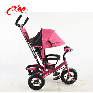 high quality baby carrier tricycle plastic wheels/foldable child best trike for a 1 year old baby/OEM baby tricycle with handle
