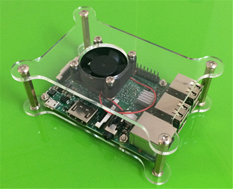 Whosale Raspberry Pi 3 and Pi 2 Model B Acrylic Case with fan <strong>Hole</strong> Raspberry pi Enclosure case