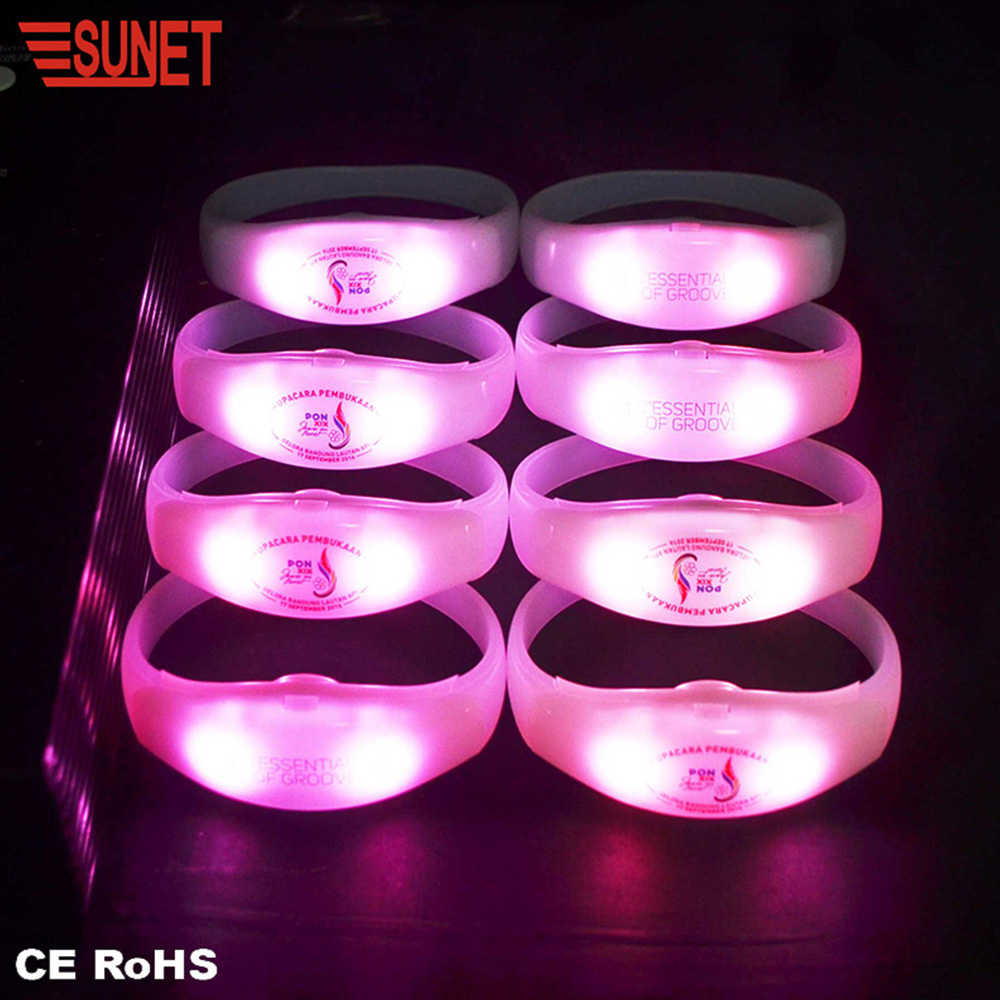 Wedding Favors Lighting Multi Colors Music Concert Remote Controlled Party LED bracelet