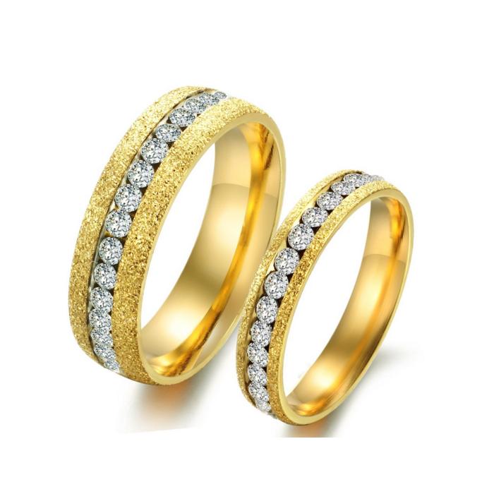 Dubai Couple Jewelry Wedding Ring Gold Latest Gold Finger Engagement