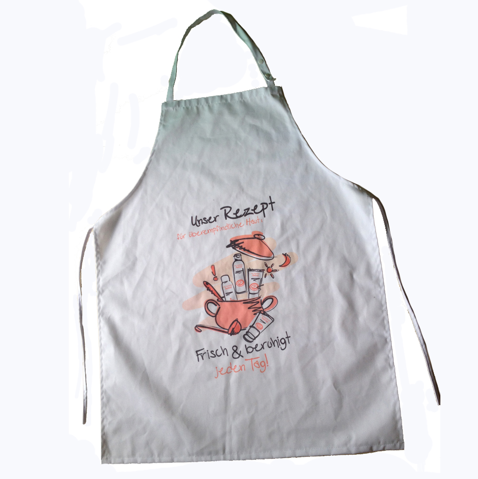 promotional poly cotton twill bib apron