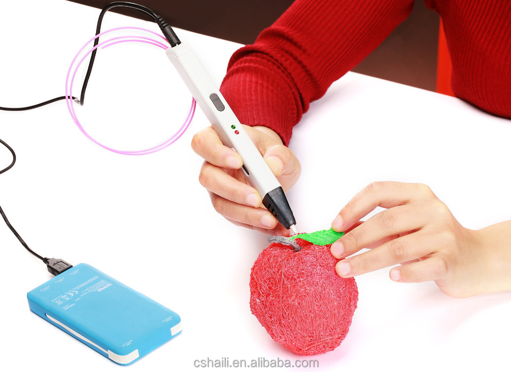 factory direct sale 3D arts printing drawing painting doodling pen with power bank