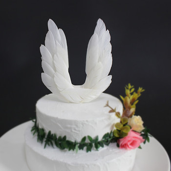 Angel Wings Fairy Cake Topper Decoration Aesthetical Creative Handmade Swan Princess Birthday Party Baby Shower