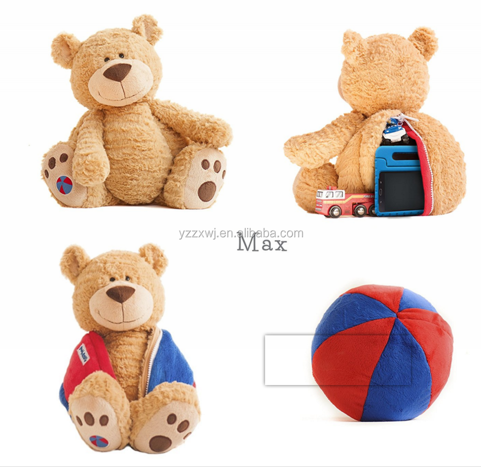 Soft Teddy Bear Cuddly Buddy Kids Boys Girls Stuffed Toy Plush Transform Ball Plush stuffed bear plush reversible ball toy