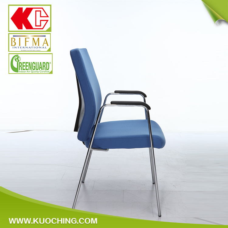 Elegant Low Back Fabric Visitor Conference Stackable Chair