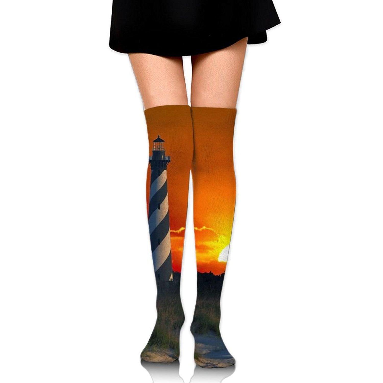 Zaqxsw Lighthouse Women Fashion Thigh High Socks Thermal Socks For Womens