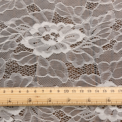 high quality 92% nylon 8% spandex white flower jacquard fine mirror chiese lace for garment