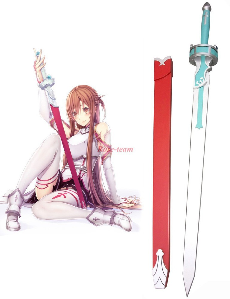 Rose Team-Free Shipping Sword Art Online Yuki Asuna Flash Sword Wooden Weapons Anime Sexy Halloween Carnival Accessories