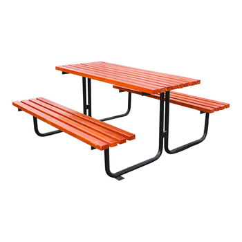 Marvelous Outdoor Park Plastic Wood Picnic Table Bench Set With Metal Legs Buy Picnic Table Bench Set Plastic Wood Outdoor Table And Bench Diy Picnic Table Squirreltailoven Fun Painted Chair Ideas Images Squirreltailovenorg