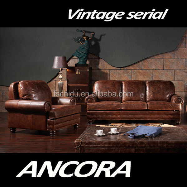vintage wohnzimmer möbel:American-antique-vintage-style-two-seats-brown.jpg