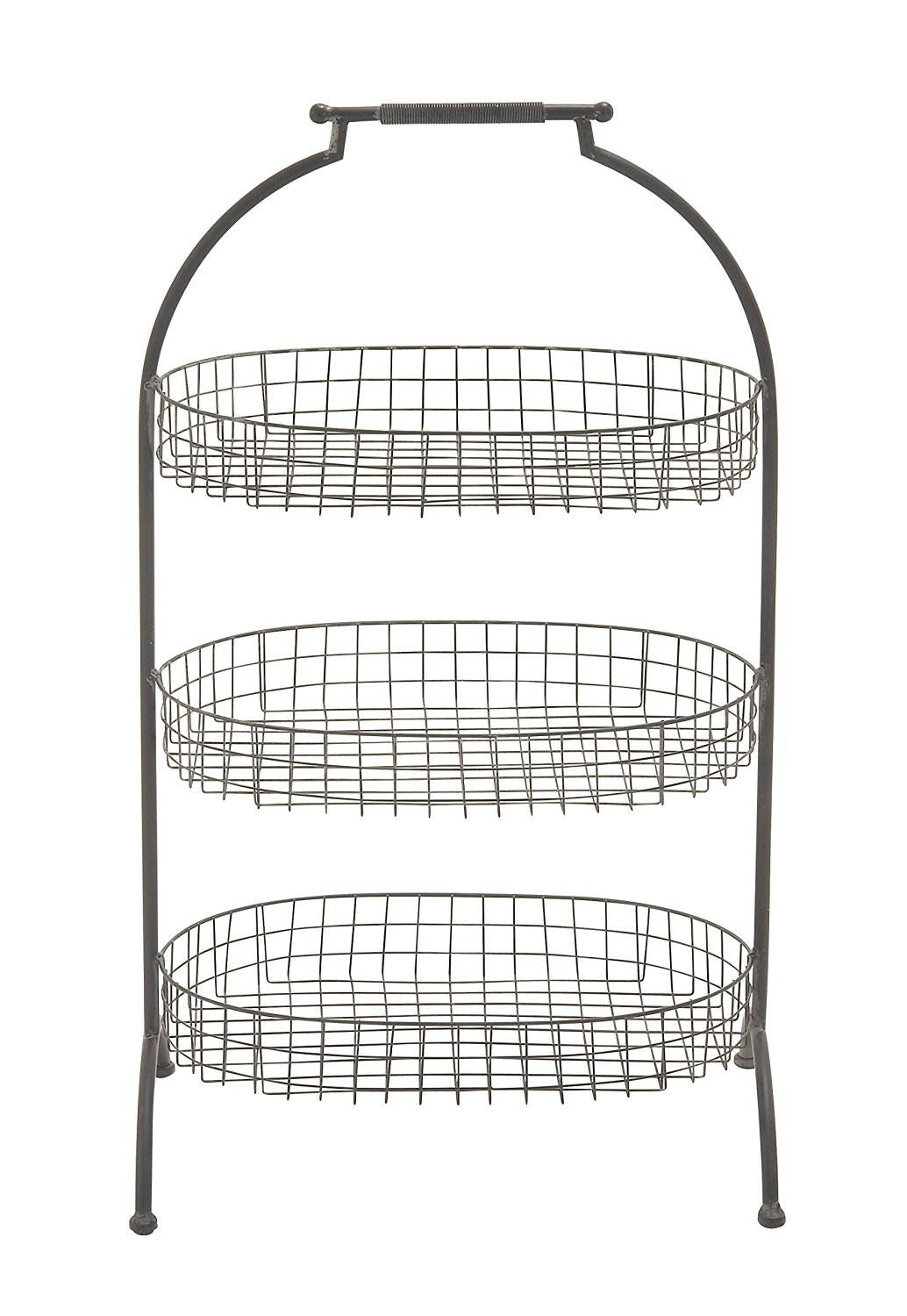 Plutus Brands Attractive Styled Metal Basket 3 Tier Tray