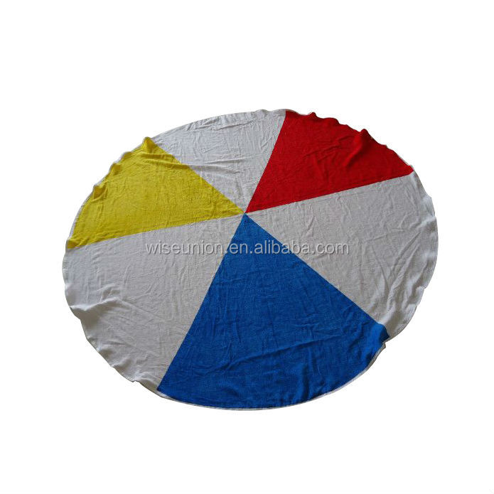 best quality promotions logos tailor made round towel beach