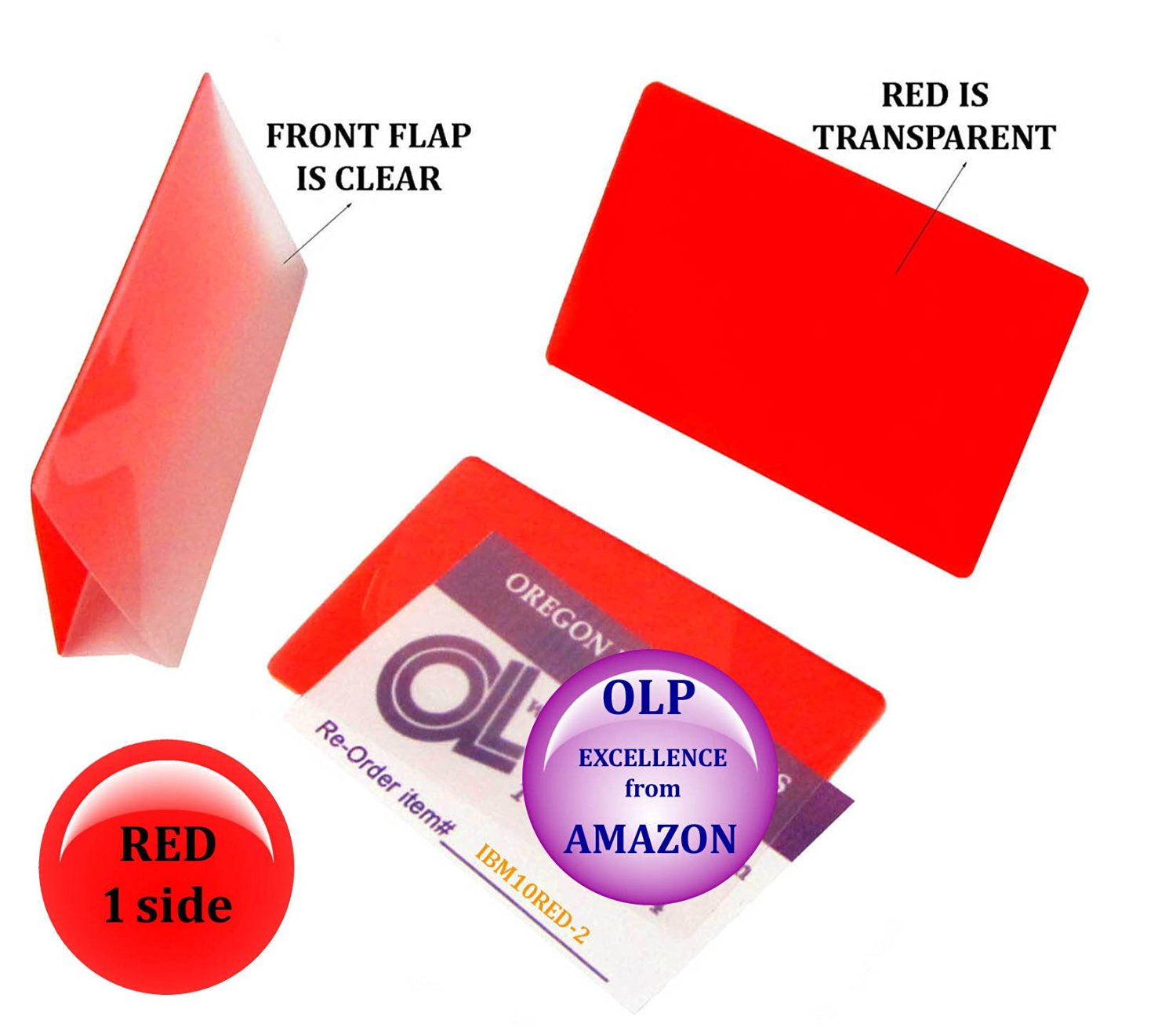 Qty 200 Red/Clear IBM Card Laminating Pouches 2-5/16 x 3-1/4