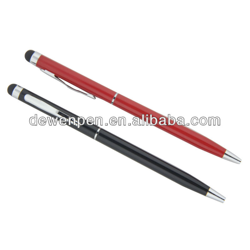 2013 hot selling high quality Dewen promotion gift stylus touch pen for ipod