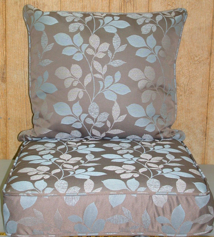Buffaloe Creek Sales Outdoor Deep Seat Cushion Set ~ Blush Botanical Taupe 26x24x4/24x24x6.5NEW