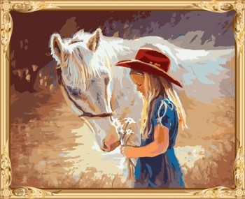 Digital Women Horse Canvas Oil Painting For Bedroom Gx7583 - Buy ...