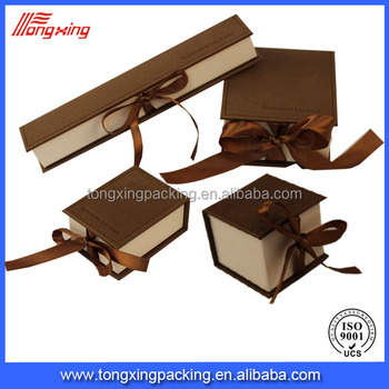 Highend Quality Custom Logo Printed Handmade Paper Jewelry Boxes