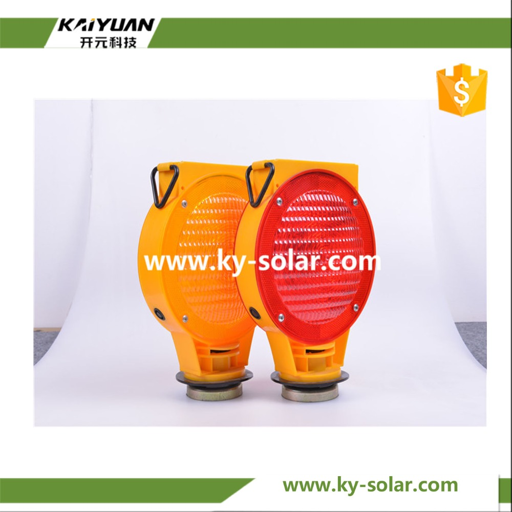 Hot sale solar yellow warning led flashing traffic signs signal lights