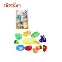 plastic fake food cutting vegetable toys pretend play toy for kids