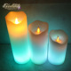 Rechargeable LED Electric flameless color change birthday Candle for parties