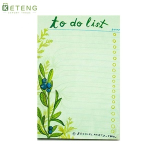 High quality non-sticky letter shaped Eco-friendly tear off notes/sticky note book