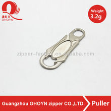 Backpack accessories! Delicate metal zipper puller,zip pullers whole sale in guangzhou