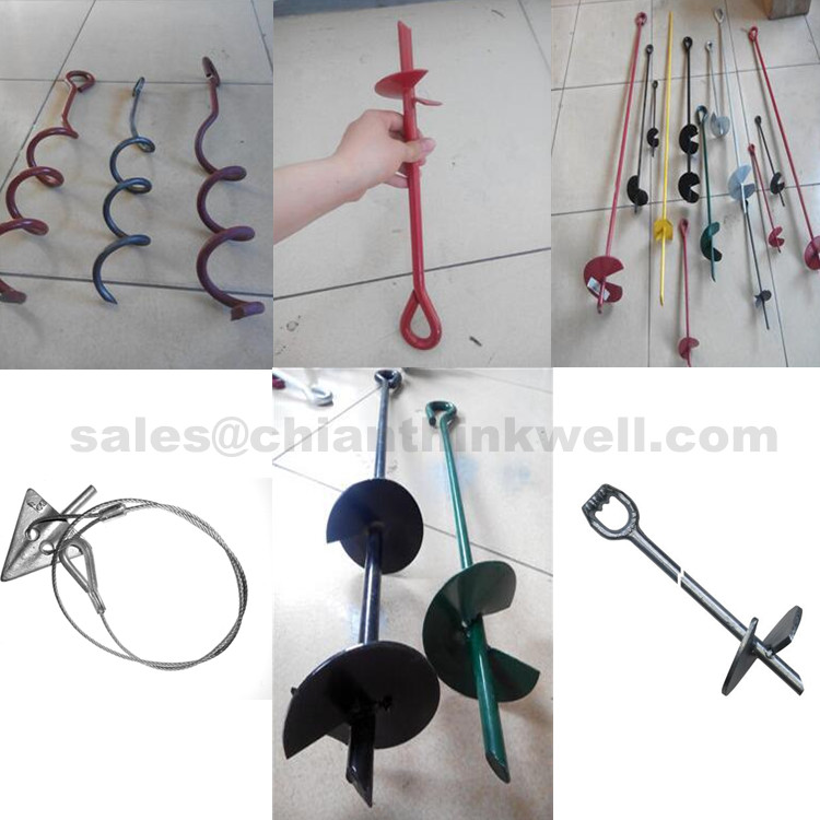 Chinese Supplier 30inch Lifting Crane Tie Down Ground Anchor Screw