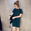 Cheap Wholesale Girls Long Dress Stripped Winter Long Tshirt
