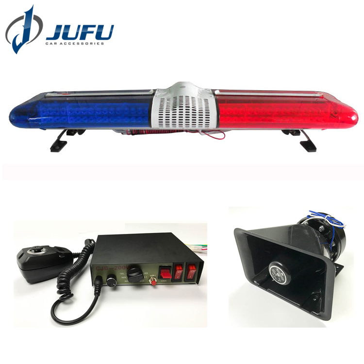 Police supplies 144W red blue led police light bar emergency flashing siren speaker used police light bar