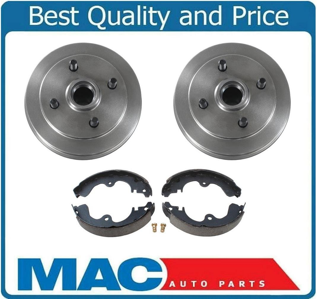 2 Mac Auto Parts 124609 Brake Drum Drums /& Rear Brake Shoes 3521 B671 Fits 1993-1998 Altima 2.4L