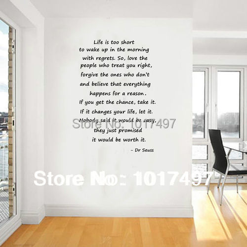Life Size Quotes: Large Size Dr Seuss Quotes Life Is Too Short