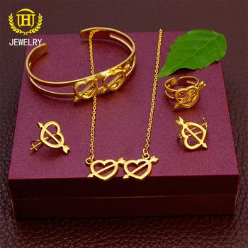 Love arrow pack dubai gold plated jewelry set jewelry set 18k gold
