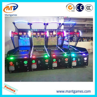 Happy Adult Coin Operated Amusement Redemption basketball shooting Games Lottery Machine