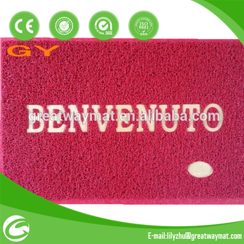 washable anti slip cushion welcome pvc doormat