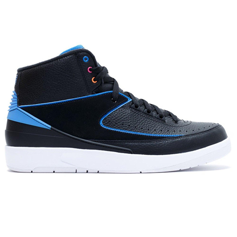 e0acee419013 Get Quotations · Basketball Men s Shoes AIR JORDAN 2 RETRO RADIO RAHEEM  834274 014 Black Performance Sports Shoes