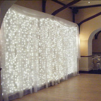 Low Price Snowflake Star Led Christmas Curtain Light Backdrop