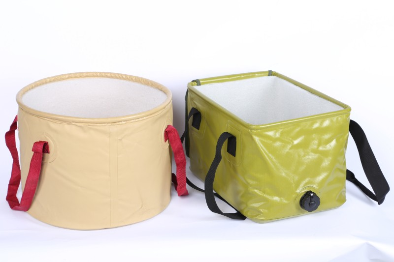 collapsible beach cooler ice laundry plastic water fishing foldable folding pvc rubber bucket collapsible with lid