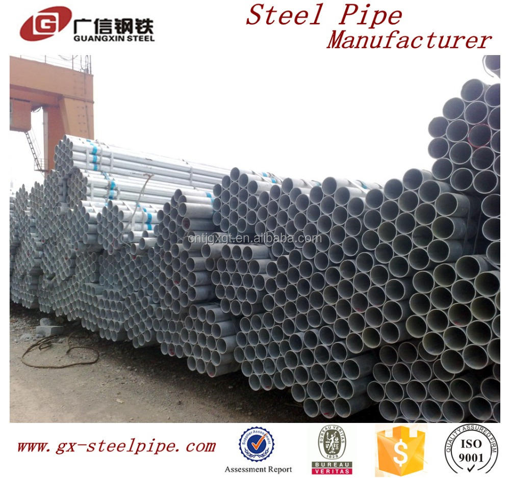 wholesale price of pre-galvanized pipe for construction material
