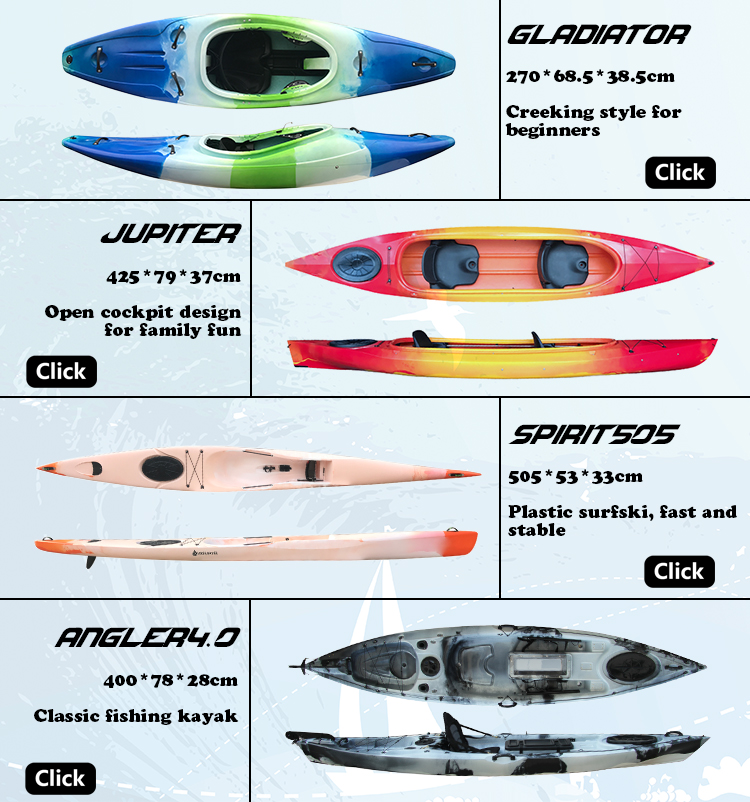 Fast PE Kayak Single Sit in Sea Kayak Speed k1 racing kayak