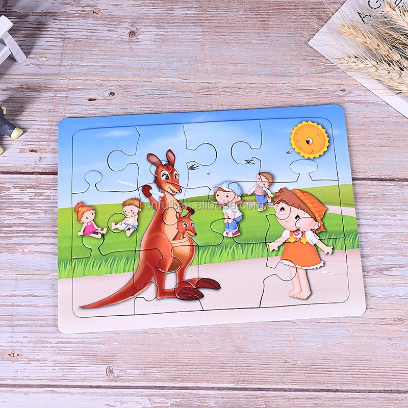 Puzzle caixa de cor/Impressão Personalizada De Papel Mini Jigsaw Puzzle Dos Desenhos Animados Com Caixa de Presente E Lidar Com