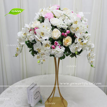 Gnw Colorful Flower Ball Arrangement Artificial Orchid And Rose ...