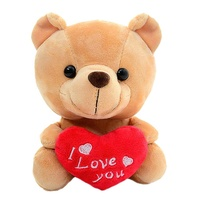 Brown Plush Teddy Bear with Heart I Love You for Valentines Day Gifts