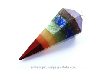 Bonded Chakra Cone Pendulum For Metaphysical Healing