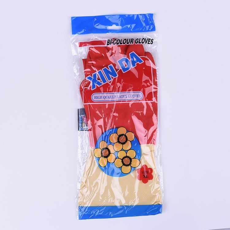 Бытовая латексная перчатка биколор водонепроницаемый Кухня очистки термостойкие еда класс резиновые перчатки