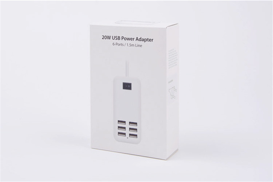 Universal US UK EU Plug AC 15 W 5 V 3A 6 Port USB Desktop Wall Charger Travel Power Adapter Untuk iPhone Samsung PC