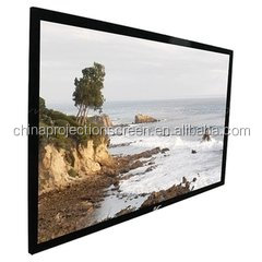 16:9 home Cinema Electric Projection screen with static flocking Alloy frame . factory direct sale
